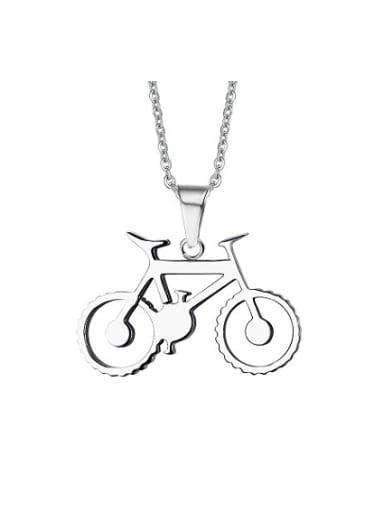 Personality Bike Shaped Titanium Men Necklace