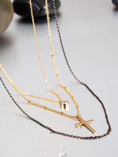 Female Fashion Titanium Cross Necklace