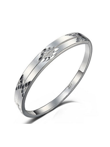 999 Silver Personalized Flowery Patterns-etched Bangle