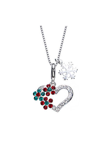 2018 2018 2018 Heart-shaped Crystal Necklace