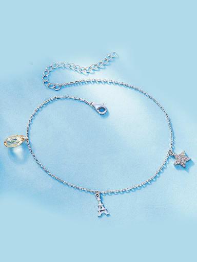 S925  Silver Water Drop-shaped Bracelet