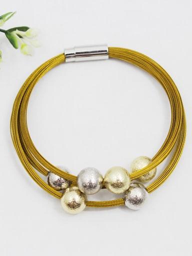 Fashion Multi-layer Copper Beads Charm Bracelet