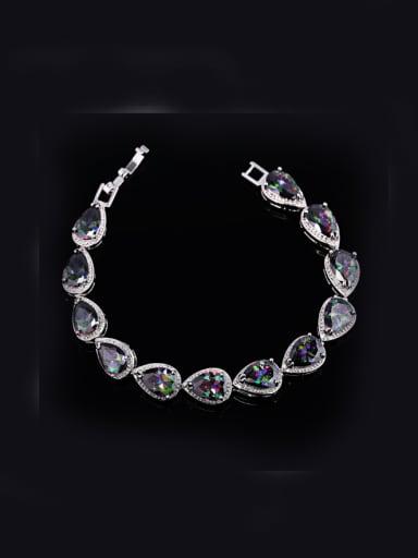 Water Drop Zircons Bracelet