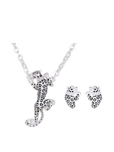 Alloy Silver/Imitation-gold Plated Creative Leopard Two Pieces Jewelry Set