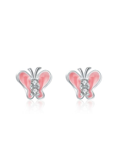Butterfly Shaped Color Glue Stud Earrings