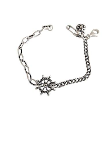 925 Sterling Silver With Antique Silver Plated Vintage Rudder Bracelets