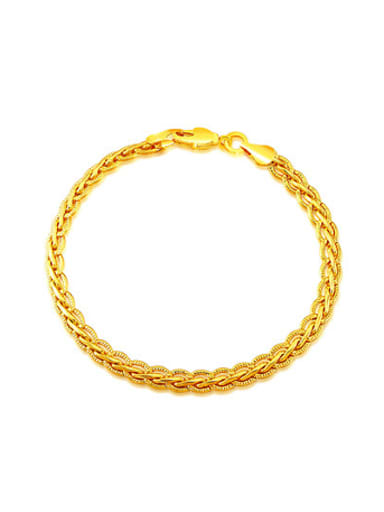 18K Gold Plated Fashion Woven Bracelet