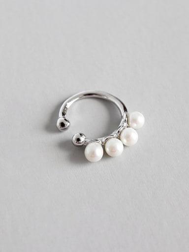 Sterling Silver personality CHIC beech ear clip earrings