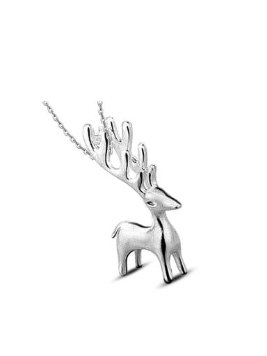 Fashion Little Deer Pendant Copper Necklace