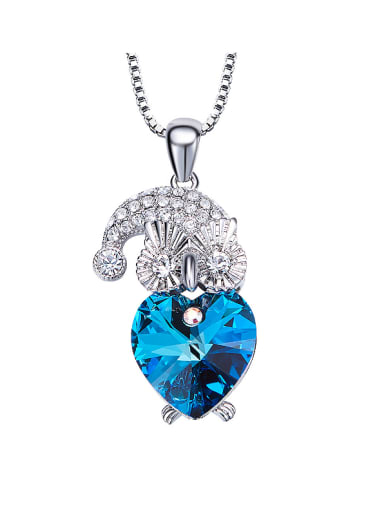 Owl Shaped Crystal Necklace