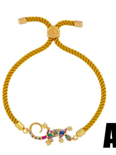 Copper With Cubic Zirconia Fashion Animal Bracelets