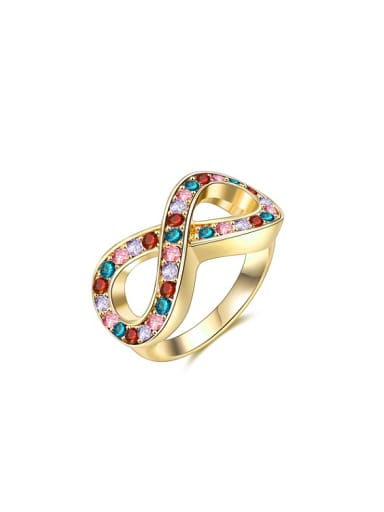 Fashion Number Eight Shaped 18K Gold Ring