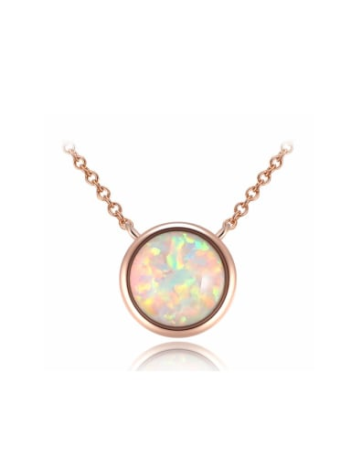 Fashion rose-gold Opal Simple Necklace