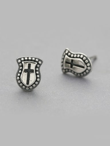 Vintage Style Shield Shaped stud Earring