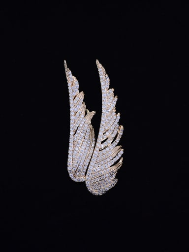 Copper With Cubic Zirconia  Angel wings Brooches