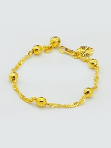 Children 24K Gold Plated Round Shaped Copper Bracelet