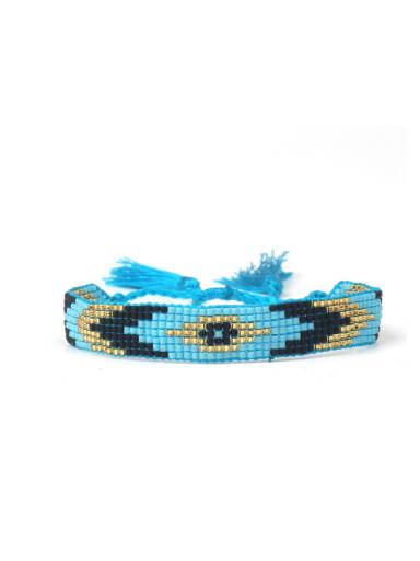 Colorful Woven Glass Beads Women Bracelet