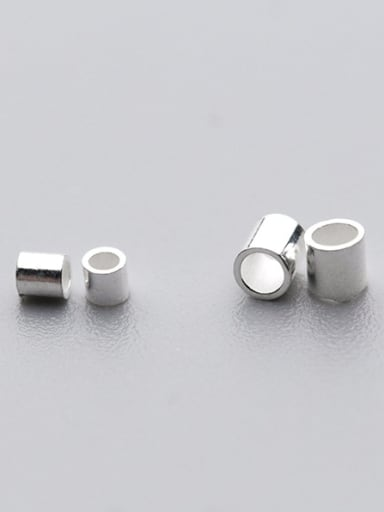 925 Sterling Silver With Silver Plated Fashion Geometric Beads