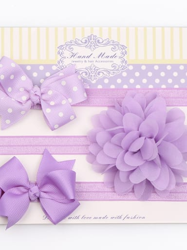 Children's hair band 3 piece set bow star combination hair band