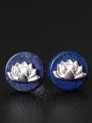 Blue Stones Women stud Earring