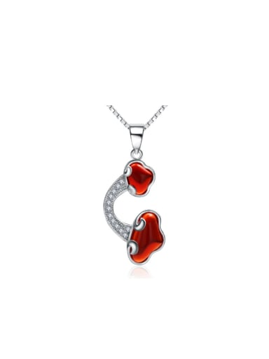 Red Garnet  Zircons Handmade Creative Pendant