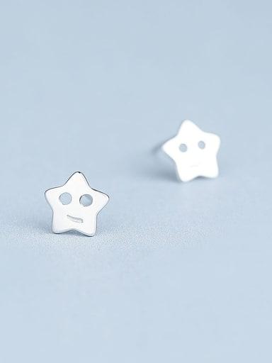 Elegant 925 Silver Star Shaped stud Earring