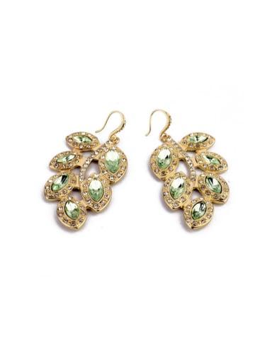 Luxury Color Rhinestones Hook drop earring