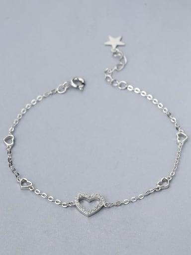 Women Exquisite Heart Shaped Zircon Bracelet