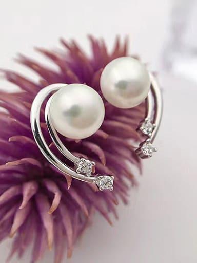 Freshwater Pearl Meteor shaped stud Earring