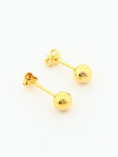 Fashionable 24K Gold Plated Round Shaped Stud Earrings