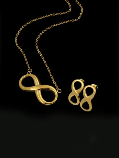 Simple Style 8 Shaped Two Pieces Jewelry Set