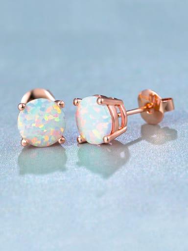 6MM Opal Stone stud Earring