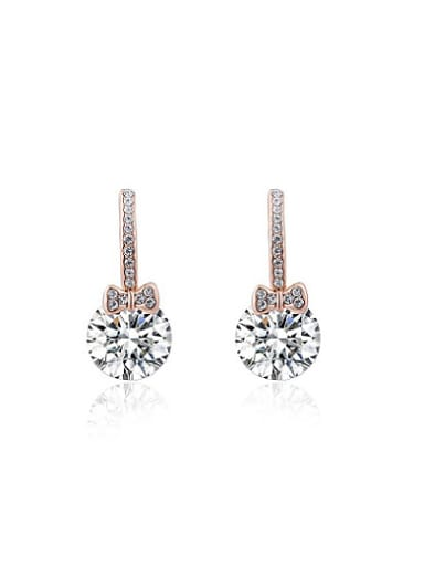 ROXI selling jewelry earrings Austria crystal rose gold bow Zircon Earrings