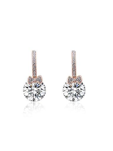 ROXI selling jewelry earrings Austria crystal rose gold bow Zircon Earrings