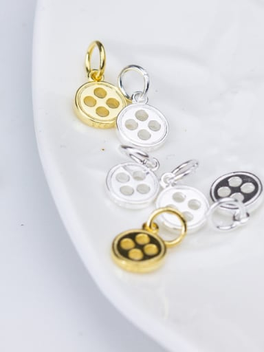 925 Sterling Silver With Silver Plated button Charms