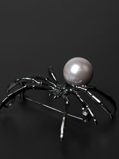 Personality Spider Shell Pearl Brooch