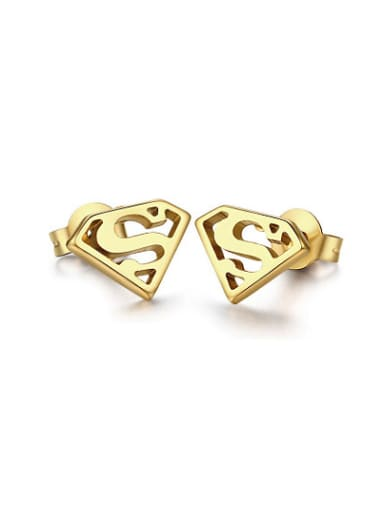 Trendy Gold Plated Triangle Style Stud Earrings