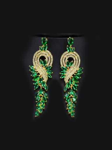 Fashion Zircons Tassel Drop Chandelier earring