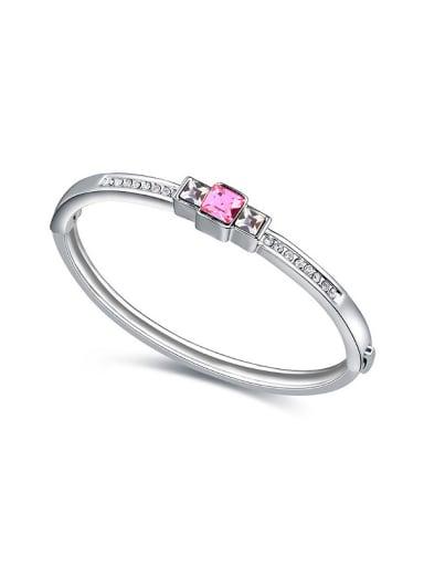 Simple Little Swarovski Crystals Alloy Bangle
