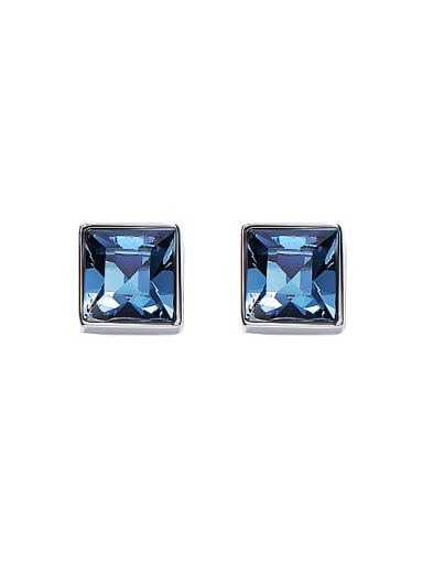 S925 Silver Square Shaped stud Earring