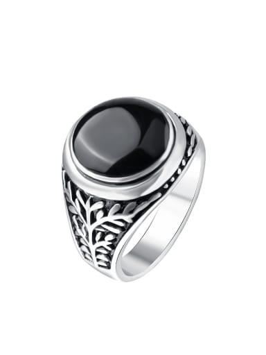 Retro style Black Enamel Alloy Ring