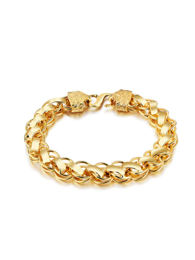 18K Gold Plated Exaggerated Men Bracelet