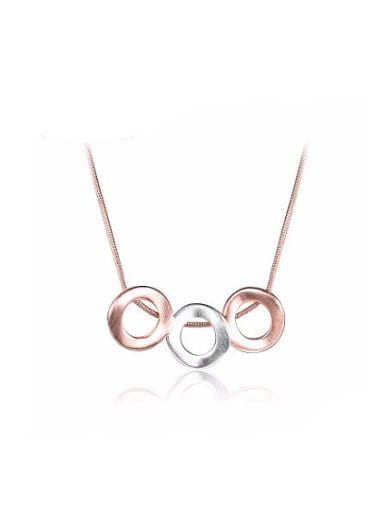 Adjustable Length Rose Gold Plated Double Color Necklace