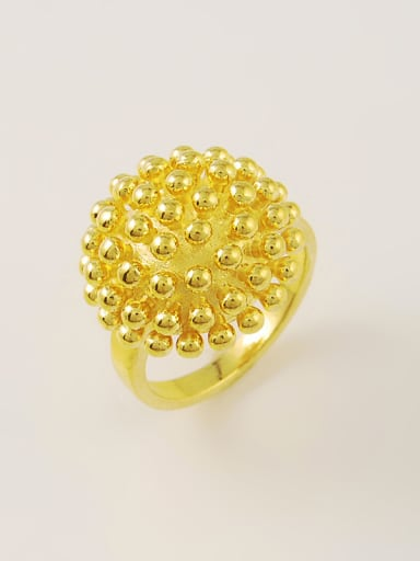 Fashionable 24K Gold Plated Round Shaped Copper Ring