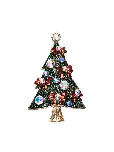 Personalized Creative Christmas Tree Zircon Brooch
