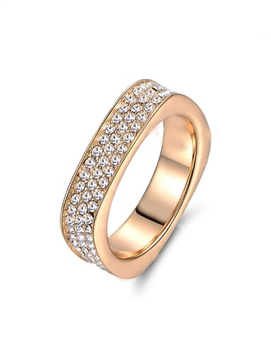 2018 18K Gold Plated Zircon Ring