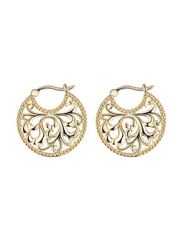 Women Exquisite Round Shaped Stud Earrings