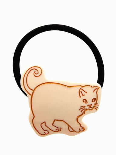 Rubber Band With Cellulose Acetate  Cute Cat  Hair Ropes