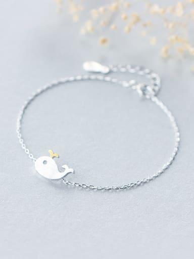 S925 Silver Lovely Whale Bracelet