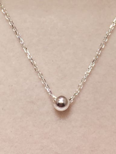 S925 silver fashion light bead necklace
